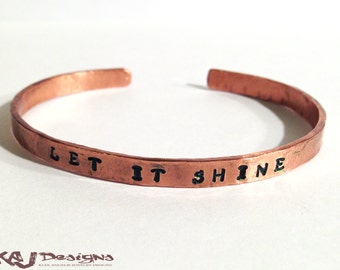 Hammered Copper Cuff Bracelet - Solid Copper - Rustic Minimalist Cuff - 5-6mm Width - Personalized - Custom Sized - Subtle Rustic Texture