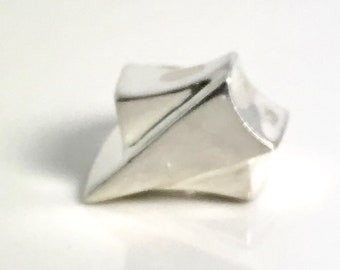 Artist Created Sterling Silver Ring, Hand Crafted Ring, Sterling Silver Ring, Abstract Ring, Geometric Shape Ring