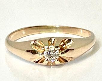 Belcher Ring, Wedding Ring, Promise Ring, Engagement Ring, Diamond Ring, Vintage Ring, Vintage Jewelry