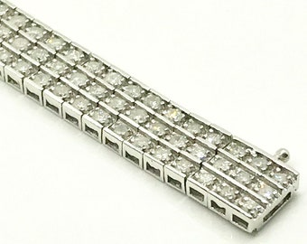 Vintage Diamond Bracelet, Diamond Straight Line Bracelet, White Gold Diamond Tennis Bracelet, Diamond Bracelet, Tennis Bracelet, Bracelet