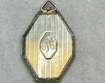 Vintage Sterling Silver Locket, Locket, Engraved Locket, Picture Holder, Antique Locket
