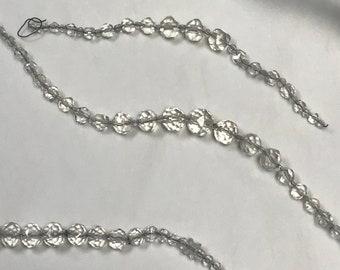 Strands of Chandelier Glass Crystals, Strung Chandelier Crystals for DIY Project, Strung Crystal for Chandelier, Glass Crystal Strands