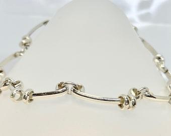 Sterling Silver Artist Necklace, Vintage Silver Necklace Stamped Mexico, Mexico Necklace, Sterling Choker, Vintage Choker