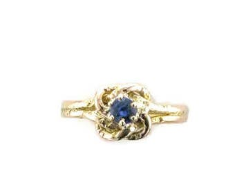 Victorian Love Knot Ring; Victorian Sapphire Love Knot Ring; Sapphire Ring; Sapphire Love Knot Ring; Love Ring; Pre-Engagement Ring