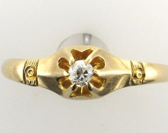 Victorian Old European Cut Diamond Ring; Victorian Engagement Ring; Engagement Ring; Promise Ring; Antique Diamond Ring