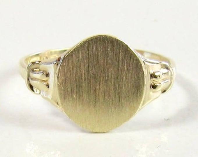 Gold Signet Ring, Signet Ring, Vintage Signet Ring, Gold Monogram Ring, Personalized Ring, Initial Ring, Vintage Initial Ring, Signet
