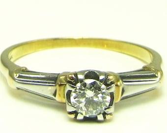Diamond Engagement Ring; Diamond Promise Ring; Diamond Ring; Engagement Ring; Vintage Diamond Engagement Ring; Vintage Promise Ring