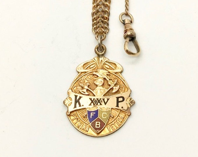 Gold Filled Knights of Pythias Watch Fob, Antique Watch Fob, Knights of Pythias, Fraternal Organization, Antique Fob, Knights of Pythias Fob