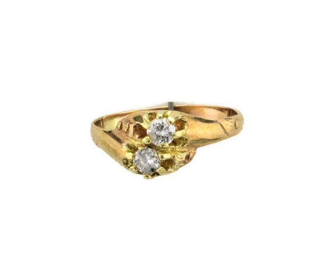 Victorian Diamond By-Pass Ring; Promise Ring; Alternative Wedding Ring; Antique Diamond Ring; Antique Promise Ring