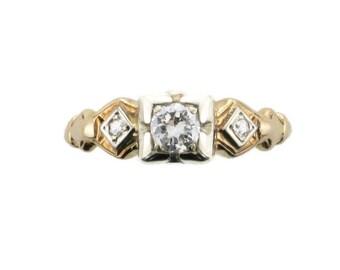 Vintage Diamond Engagement Ring; Diamond Engagement Ring; Engagement Ring; Yellow Gold Diamond Engagement Ring; Vintage Engagement Ring