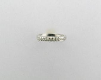 Platinum Diamond Wedding Ring; Platinum Diamond Straight Line Ring; Platinum Diamond Anniversary Ring; Platinum Ring