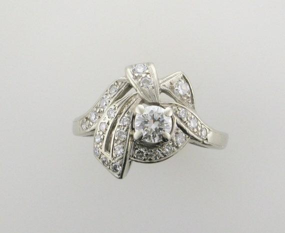 White Gold Diamond Cocktail Ring; Diamond Cocktail