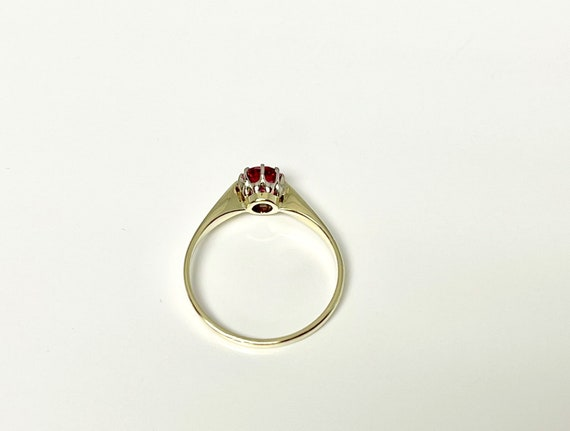 Vintage Yellow Gold Pink Tourmaline Solitaire Rin… - image 6