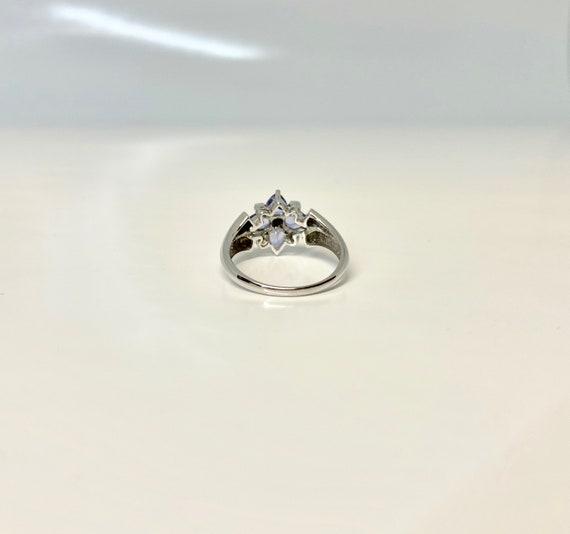 Vintage White Gold Tanzanite and Diamond Ring, Vi… - image 4