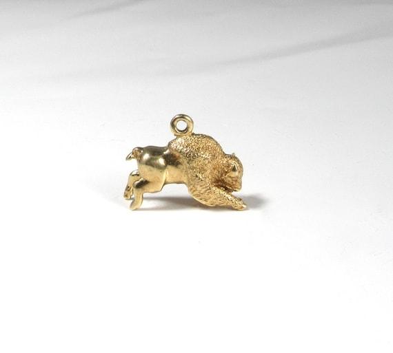Buffalo Charm; Buffalo Pendant; Yellow Gold Buffal
