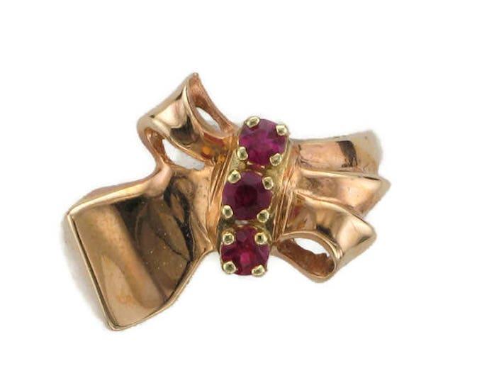Ruby Retro Ring, Rose Gold Ruby Ring, Rose Gold Ruby Retro Ring, Vintage Ring, Vintage Ruby Ring, July Birthstone, Birthstone Ring