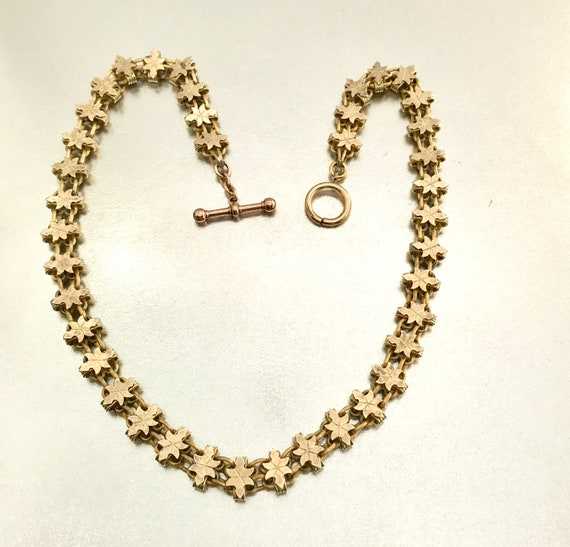 Gold Filled Victorian Book Chain, Necklace, Chain