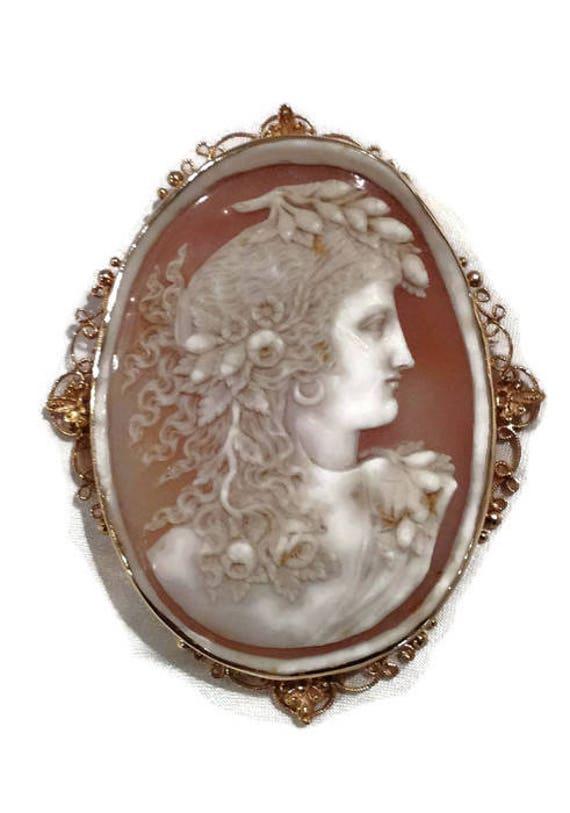 Antique Cameo Pin/Pendant, Cameo Pin, Cameo Pendan
