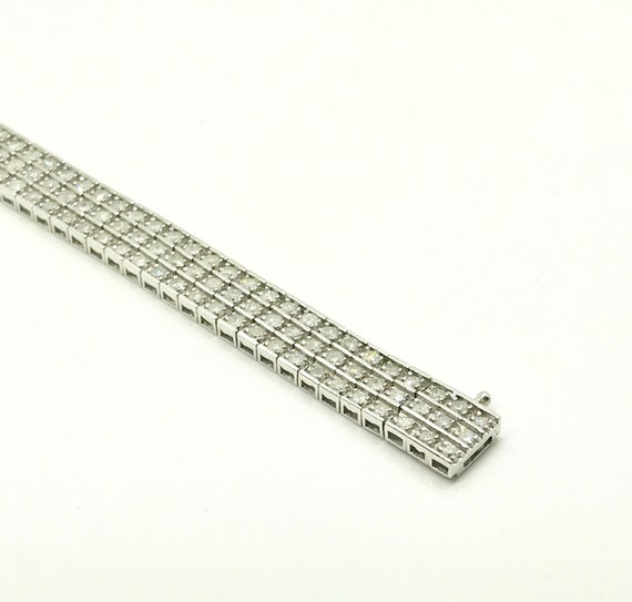 Vintage Diamond Bracelet, Diamond Straight Line Br