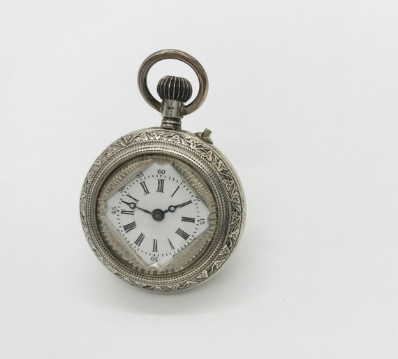 Silver Non Working Open Face Pocket Watch, Pocket