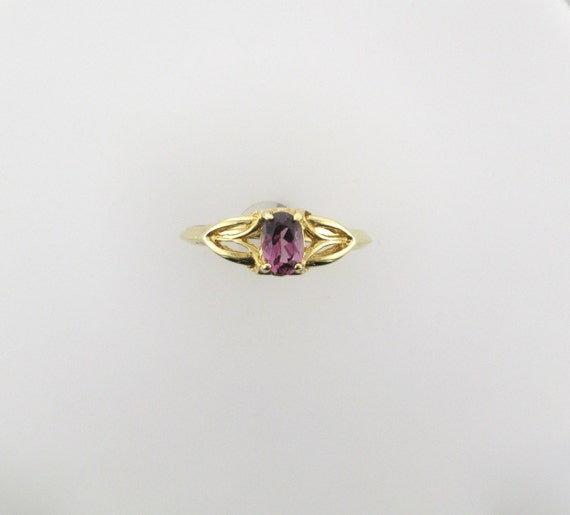 Yellow Gold Garnet Ring; Garnet Ring; January Birt
