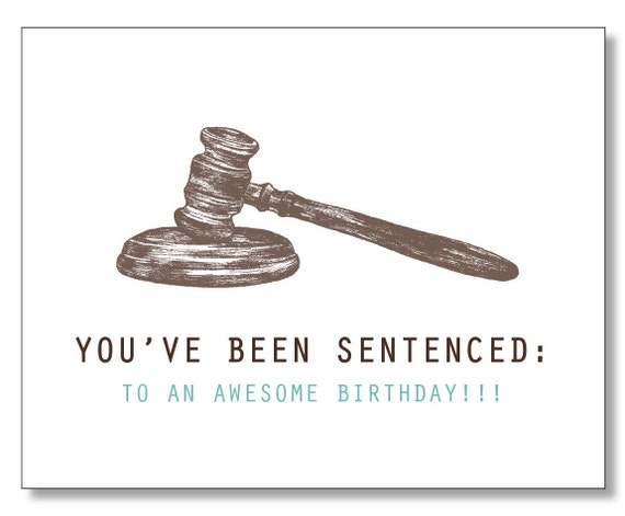HILARIOUS LAWYER BIRTHDAY Card Judge Law Student