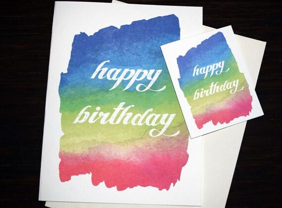 Large Oversized Birthday Card Beautiful Hand Painted Happy Etsy