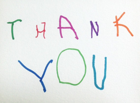 kids thank you card funny cute adorable thank you card for etsy