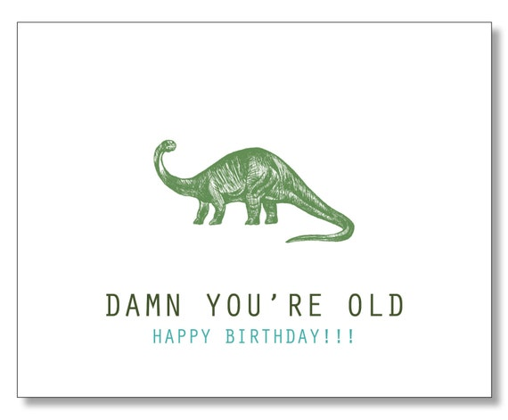 Over The Hill Hilarious Birthday Card Damn Youre Old Etsy