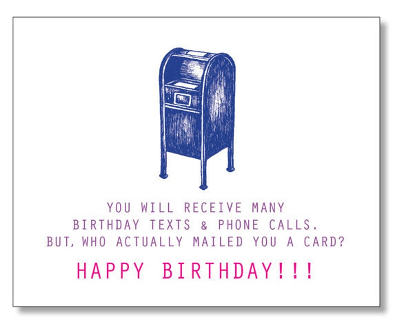 FUNNY Sweet HAPPY BIRTHDAY Card Modern Birthday
