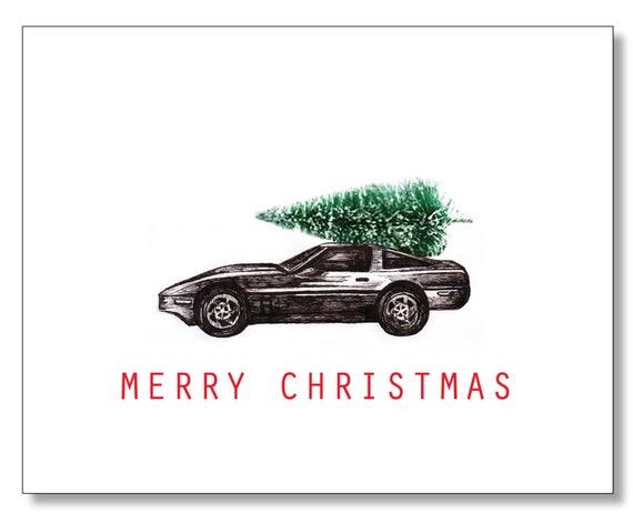 Corvette Christmas Card Sexy Christmas Card You Drive Me Etsy