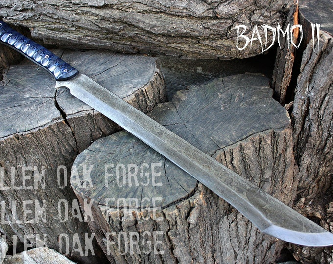 "Handmade FOF ""BadMo II""  full tang, two handed short sword"