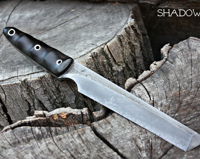"""Handcrafted FOF """"Shadow"""" full tang tanto"""