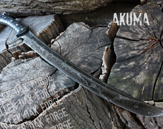 "Handcrafted FOF ""Akuma"" full tang curved tactical waki"