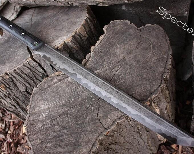 "Handcrafted FOF ""Specter"" Full tang wakizashi style short sword."