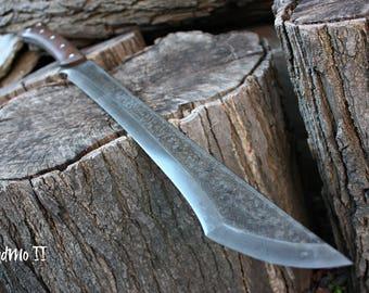 "Handmade FOF ""BadMo II""  full tang, two handed short sword"