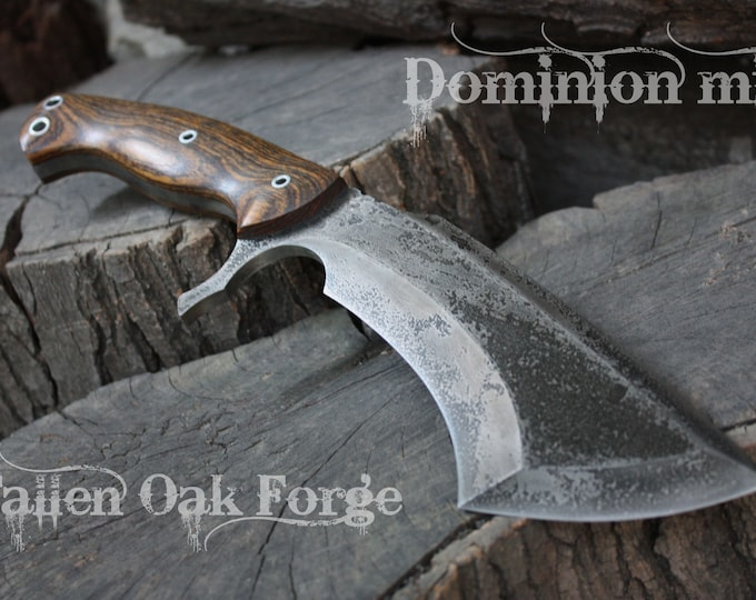 """Handcrafted Fallen Oak Forge FOF """"Dominion min"""" Custom Full Tang Tactical, Survival and Hunting knife"""