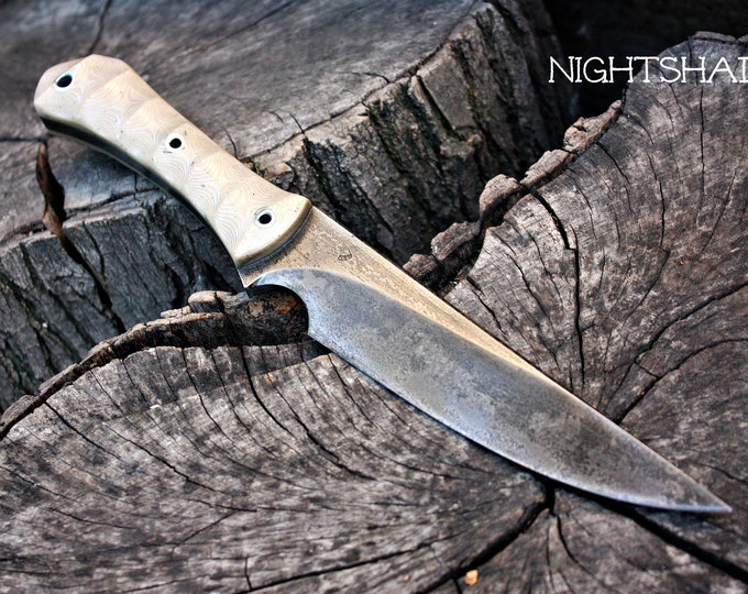 """Handcrafted FOF """"Nightshade mod"""", survival knife"""