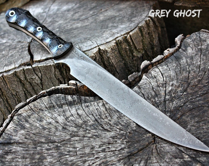 "Handcrafted FOF ""Grey Ghost"", survival knife"