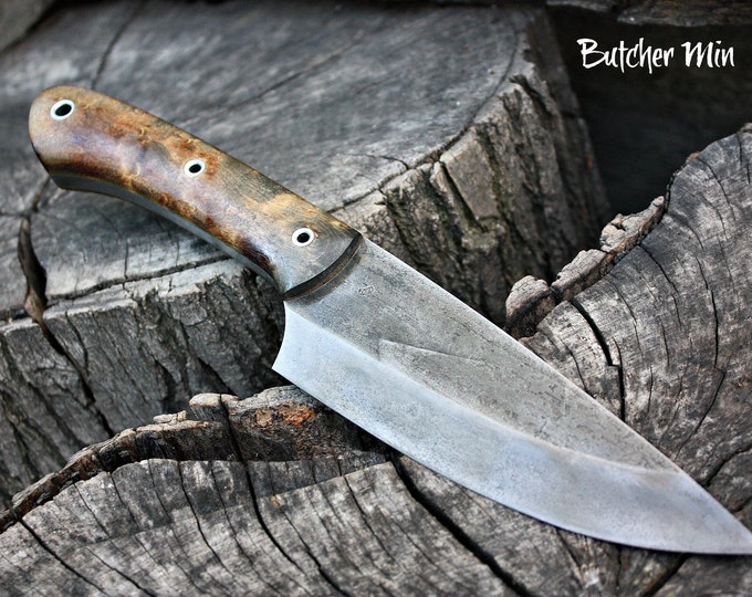 "Handcrafted blade FOF ""Butcher Min"" full tang survival and camp blade"