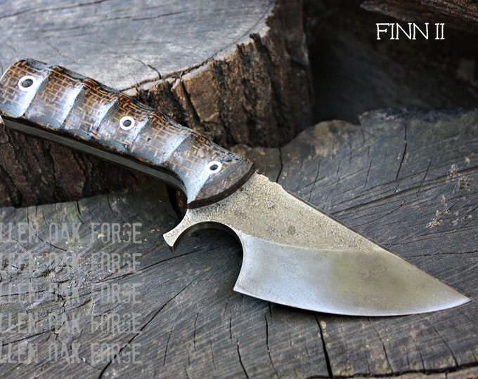 """Handcrafted FOF """"Finn II"""", survival, and hunting blade"""