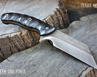 "Handmade FOF ""Seaxy mod"" working, hunting and survival knife"