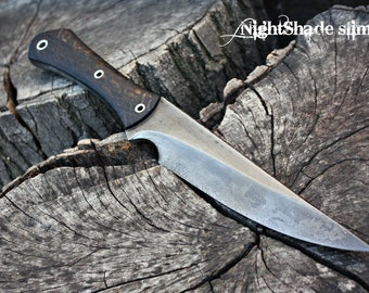 "Handcrafted FOF ""Nightshade slim"", survival knife"