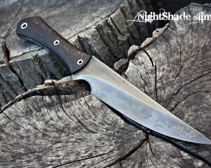 "Handcrafted FOF ""Nightshade slim"", survival knife"