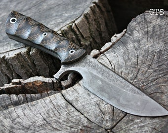 """Handcrafted FOF """"GTS"""", survival, and hunting blade"""