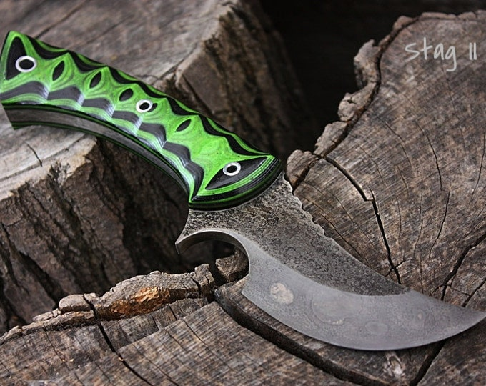 "Handmade knife FOF ""Stag II"" hunter/skinner and survival blade"