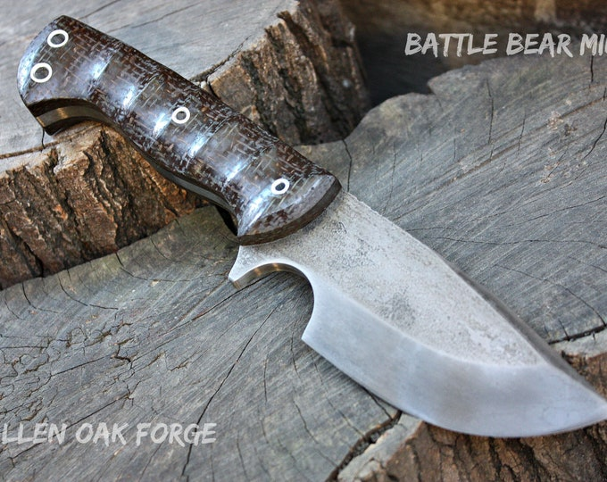 "Handmade FOF ""Battle Bear min"" full tang camp and survival knife"
