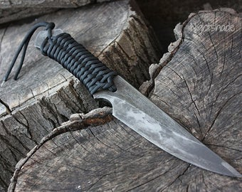 """Handcrafted FOF """"Nightshade"""", survival knife"""