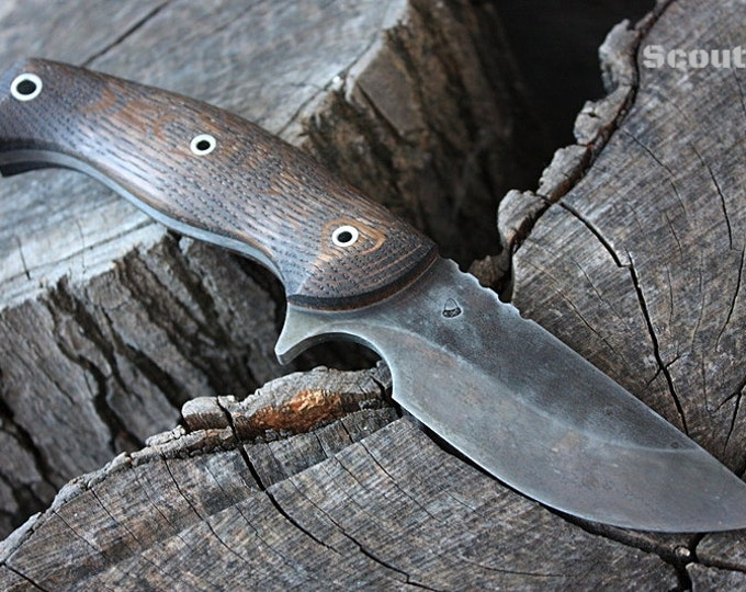 """Handcrafted FOF """"Scout II"""", survival, hunting or tactical knife"""