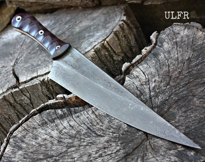 "Handcrafted FOF ""Ulfr"" Full Tang tactical and survival blade."